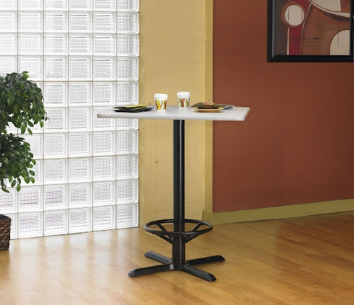 Mayline Bar Height Bistro Table CA30SHB with Square Top