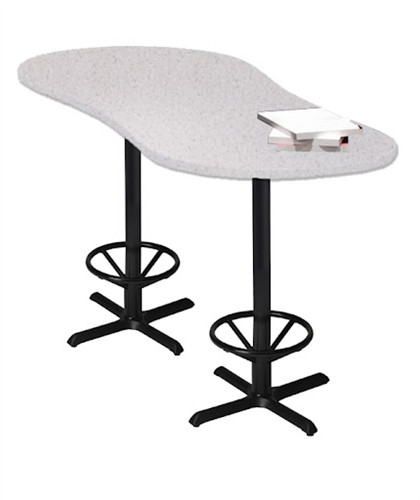 Mayline Bar Height Peanut Shaped Laminate Bistro Table CA2PH