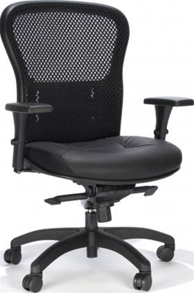 RFM Preferred Seating Essentials Mesh and Leather Office Chair 162Q