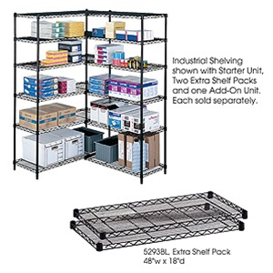 """Safco 18"""" x 48"""" Wire Shelving Unit 5291"""