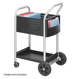 "Safco 20"" Scoot Mail Cart 5238BL"