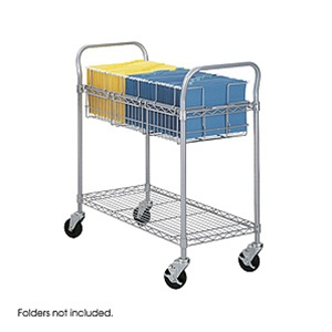 "Safco 36"" Mail Cart 5236GR"