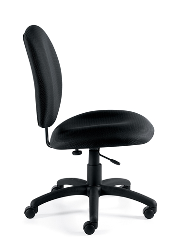 11650 armless otg task chair side view