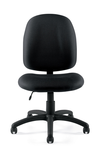 11650 armless otg task chair front view