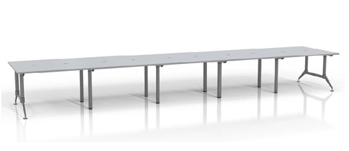 Mayline Even WorkTables LD25 Benching Station for 10 Users (2 Finish Options!)