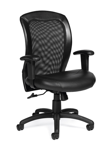 Offices To Go 11692 Adjustable Mesh Back Ergonomic Chair