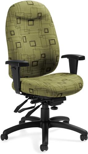 Global 1170-3 Granada Deluxe Adjustable Computer Chair