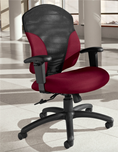 Global 1951-4 Tye Series Mid Back Tilter Chair