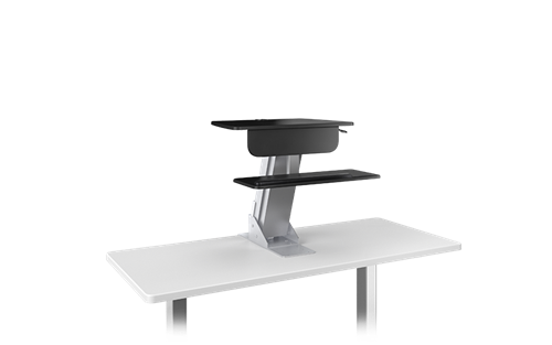 ESI Lift Clamp On Sit To Stand Workstation