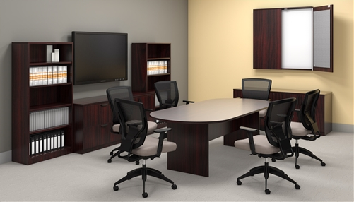 """Offices To Go 95"""" Superior Laminate Racetrack Conference Table (5 Finishes!)"""