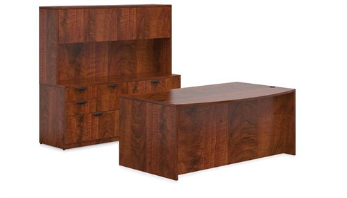 Offices To Go American Dark Cherry Furniture Set for Executive Office