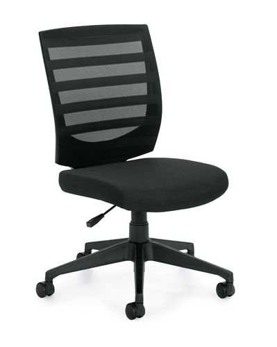 Offices To Go Armless Mid Back Mesh Chair 11922B