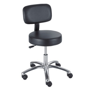 Safco Lab Stool 3430BL with Back