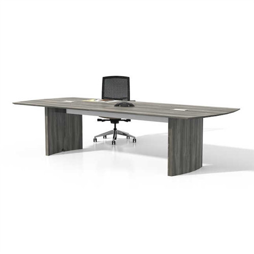 medina mnc10lgs gray steel conference table