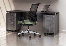 Mayline Medina 3 Piece Computer Furniture Set for Executives