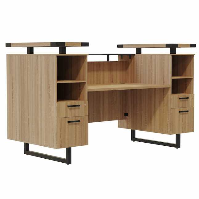 mirella sand dune laminate reception desk