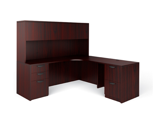 Offices To Go Executive Office Desk and Credenza Layout