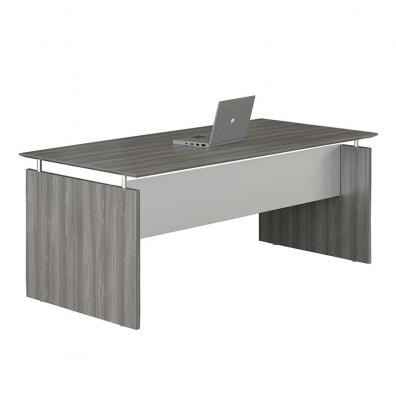 "Mayline Medina 63"" x 36"" Straight Front Gray Steel Laminate Desk"