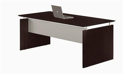 "Mayline Medina 63"" x 36"" Straight Front Mocha Laminate Desk"