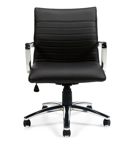 Peachy Offices To Go Luxhide Leather Office Chair With Ribbed Back Otg11734B Pdpeps Interior Chair Design Pdpepsorg