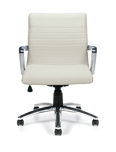 Offices To Go Luxhide Leather Office Chair with Ribbed Back - OTG11734B