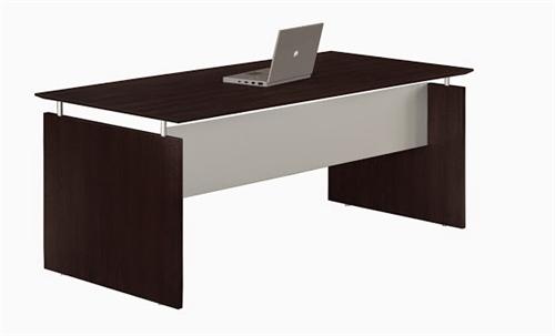 "Mayline Medina 72"" x 36"" Straight Front Desk in Mocha"