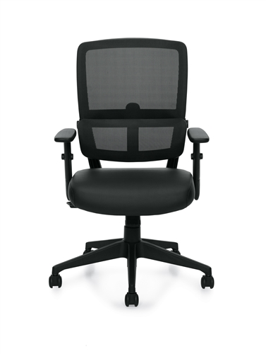 Offices To Go Mesh Back Chair with Pivoting Lumbar Pad 12110B