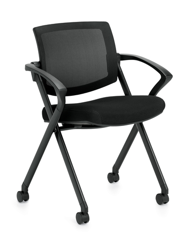 Offices To Go Mesh Back Flip Seat Nesting Chair 11340B