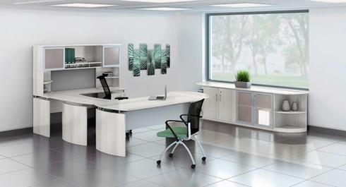 medina modern white office furniture