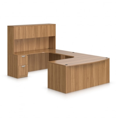 Offices To Go SL-D Bow Front Executive Workstation (5 Finishes Available!)