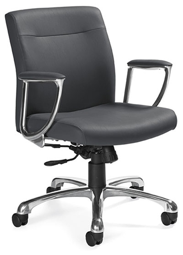 Global 2791LM-4 Mirage Leather Office Chair