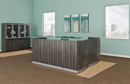 gray steel medina reception furniture