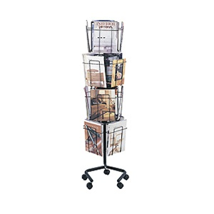 Safco Rotary Literature Rack 4139CH