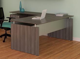 medina gray steel l-desk