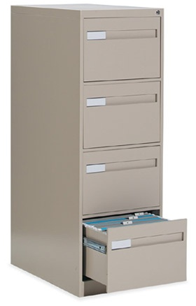 Global 2800 Series 4-Drawer Vertical File 28-452