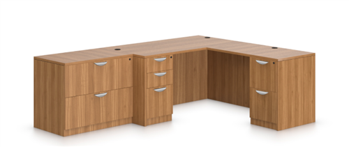 Offices To Go Superior Laminate Corner Desk and File Cabinet Layout SL-N