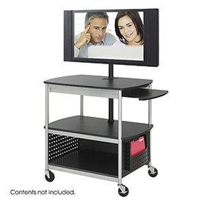 Safco Scoot Multimedia Cart 8940BL