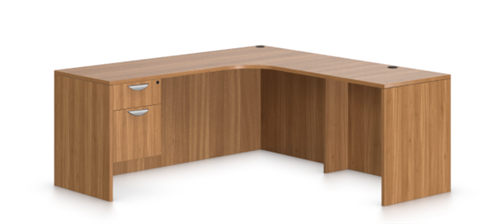 Offices To Go Superior Laminate Corner Desk In Autumn Walnut