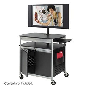 Safco Scoot Multimedia Cart 8941BL
