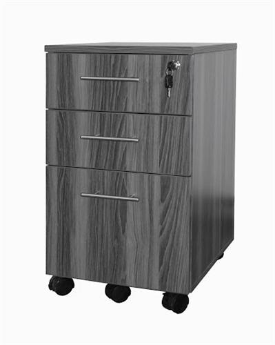 medina gray steel box-box-file pedestal