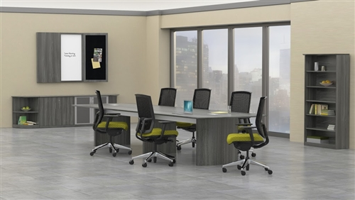 medina gray steel conference room furniture