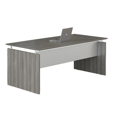 """63"""" medina floating top desk mnds63 with gray steel finish"""