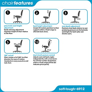 Safco Soft-Tough Stool 6912 With Foot Ring