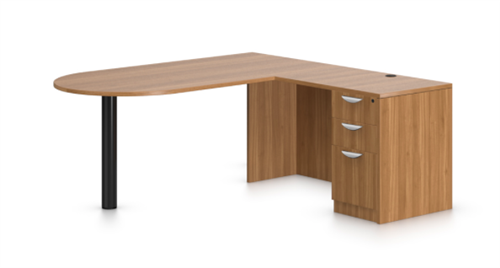 Offices To Go Superior Laminate Series Collaborative Corner Desk In Walnut
