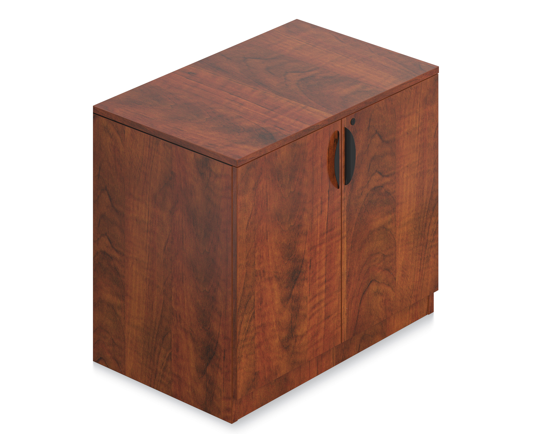 dark cherry storage cabinet
