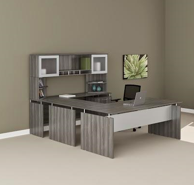 medina executive u desk mnt39 in gray steel