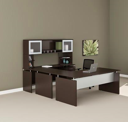 medina executive u desk mnt39 in mocha