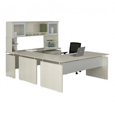 medina executive u desk mnt39 in sea salt