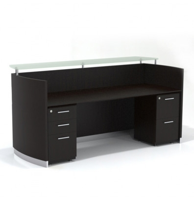 "medina 87 1/4"" wide mocha reception desk"