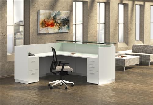 medina l shaped reception desk mnrslbf